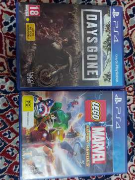 Days gone and Marvel super heroes Lego (PS4)
