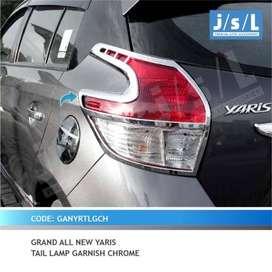 YARIS - Garnish Belakang Grand All New Yaris 2014 Chrome | FAJAR MOBIL