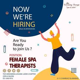 Female spa therapist for Grooming Lounge