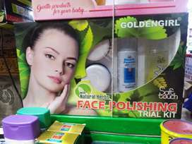 Soft touch face polishing trail kit available With discount