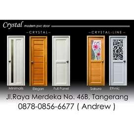 Pintu Kamar Mandi PVC no1 quality merk CRYSTAL