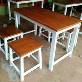 jual meja kursi makan, lesehan , kantor dll