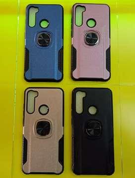 Case Xiaomi Redmi note 8 carbon soft case Stand iRing 360