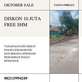 Dijual Tanah Kavling Belakang Pasar Lemahabang Cirebon