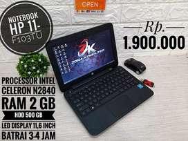 Zona Computer wts Notebook HP 11-F103TU mulus bergaransi ada bonusnya!
