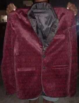 Dark red designed blazer