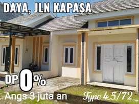 Rumah SIAP HUNI DP 0% di Makassar, belakang Pasar Grosir Daya, KIMA