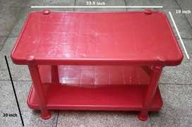 Red Plastic Double Table