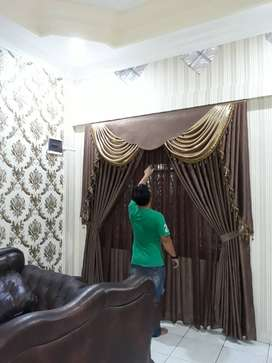 Lantai Kayu Walpaper Gorden Gordyn AL Shafeeza Decor Design Experts