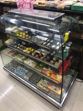 Snacks and mithai counter