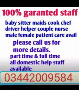 Housemaid Attendants Nurse Nanny Babysitter Cook Driver helper provide