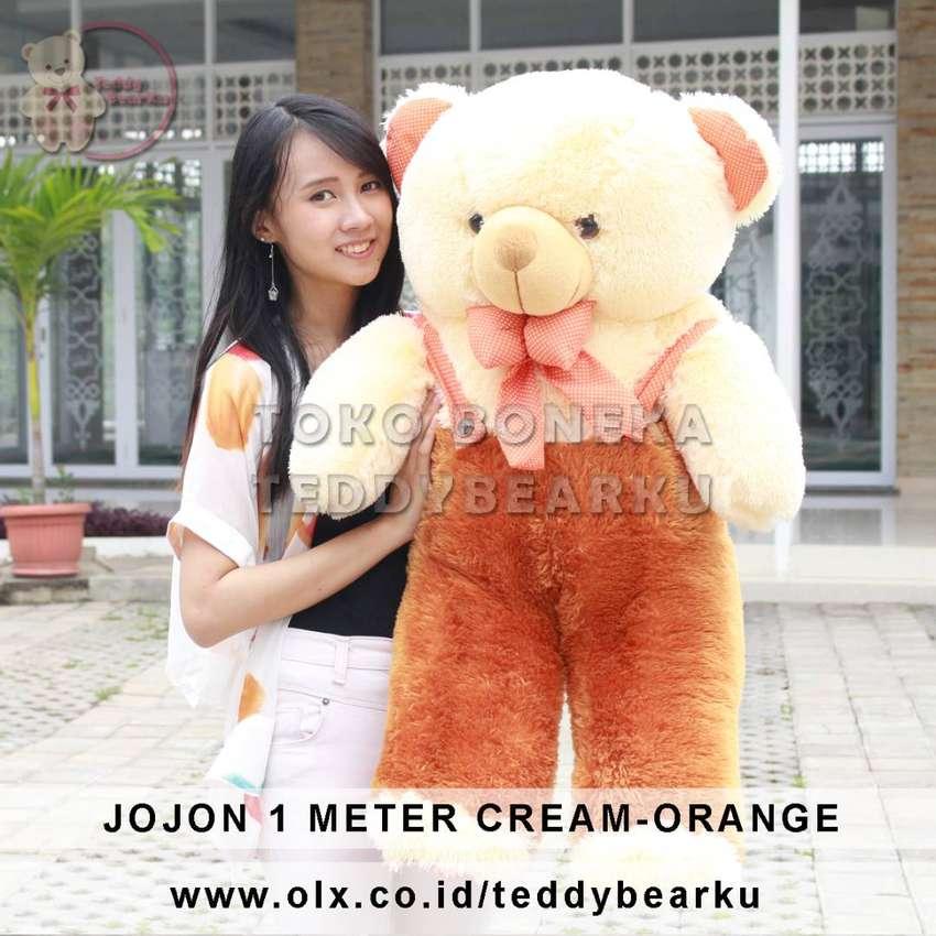 Teddy Bear JOJON Jumbo 1 Meter Super Langka Coklat Orange 0