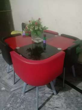 A beautiful 4 chair dining tble