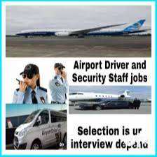 We are Hiring for the airport jobs security guard,driver ,Ground staff