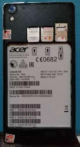 Acer Liquid X2 hp triple sim on, unik, tdk dpasarkan di Indonesia