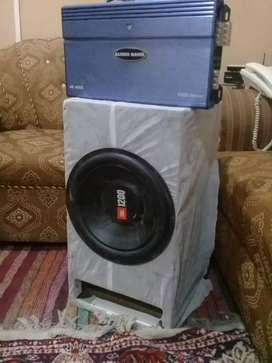 JBL Woofer and Audio Bank Amplifier