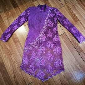 Kebaya purple P90xL38cm