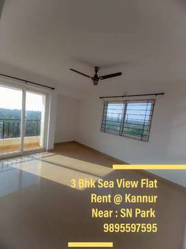 3 Bhk Sea View Flat Rent @Kannur Near : SN PARK