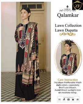 Embroidered Lawn Full 3pc Suit Eid Collection 2020