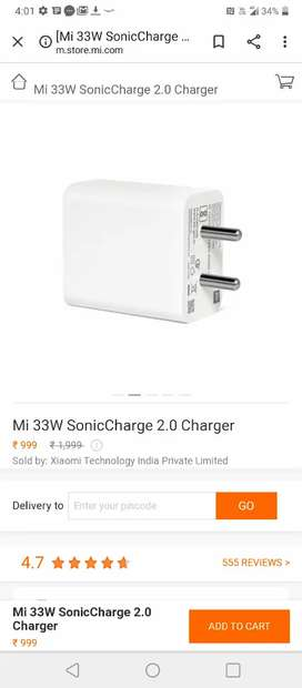 Mi 33w fast charger