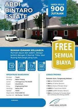Dijual Rumah Ekslusif di Deket Kampus STAN pdk Aren FREE BIAYA-BIAYA