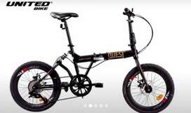 Kami menjual sepeda lipat united Quest ukuran 20