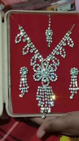 Beautiful white stone necklace