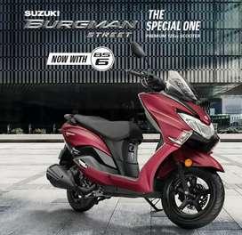 Suzuki Burgman Brand new Offering by finance scheme Rs.7999/-