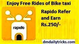 Job - Biker & Delivery Boy for Rapido | No charges at any stage