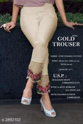 Fabulous Stretchable Cotton Women's Trousers