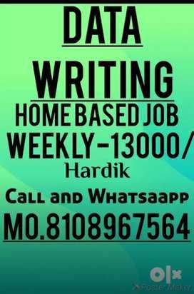 Novel hand writing part time home base job available