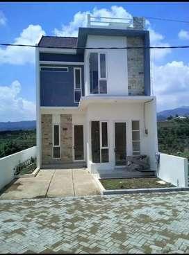 Rumah villa 2lantai eksklusife nuansa pegunungan