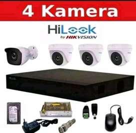 PAKET CCTV 4 CHANNEL OUTDOOR HD BRANDED PLUS PASANG DAN