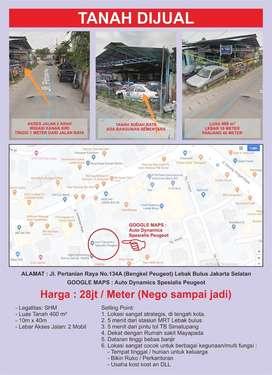 Dijual Tanah Pertanian Raya Lebak Bulus Jakarta Selatan 800m2