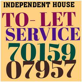 Newly built independent kothi 3bhk park facing for rent in sec 7