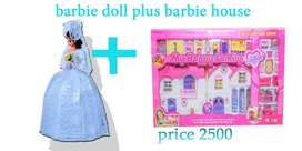 barbie doll and dream house