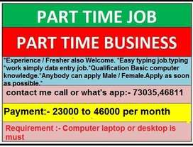 We are offer home based  jobs as Part  Time opportunities.