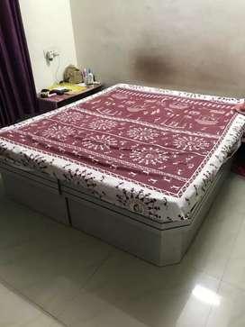 2 wooden deewan or single beds with mattress