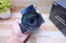 Fujifilm X-A10 lensa kit kondisi likenew fullset murah