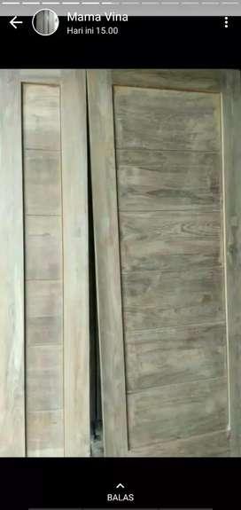 pintu minimalis modern dan klasik kayu jati bekas dan berkualitas