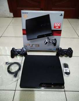 PS3 SLIM hdd 500GB Fullset (2 Stik Full 50 permainan) OK