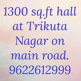 1300 sq.ft hall at Trikuta Nagar on ground floor