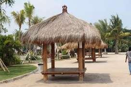 Saung gazebo atap Alang Alang ukuran 2x2m ready