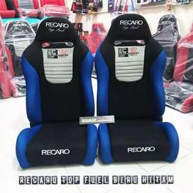 Ready balikpapan jok racing recaro top fuel biru hita.