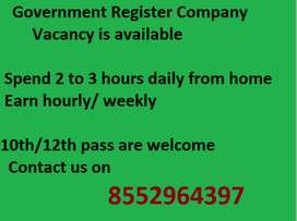 Vacancy for back office in India..