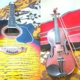 गिटार और violin