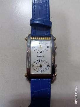 jam tangan fossil ladies dual time