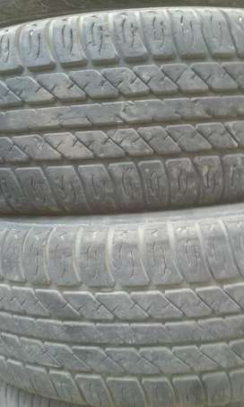 2 tyres bht achi condition like new 165/70/13  pair Rs.4500