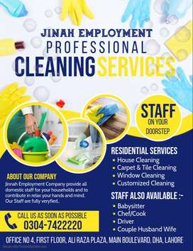 All verified And Trained Staff Available