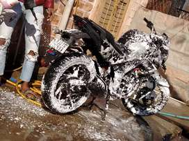 Honda hornet with camouflage graphics